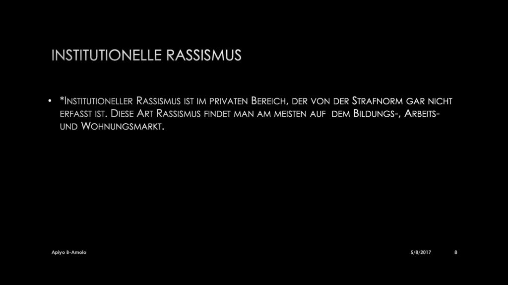 Institutionelle Rassismus
