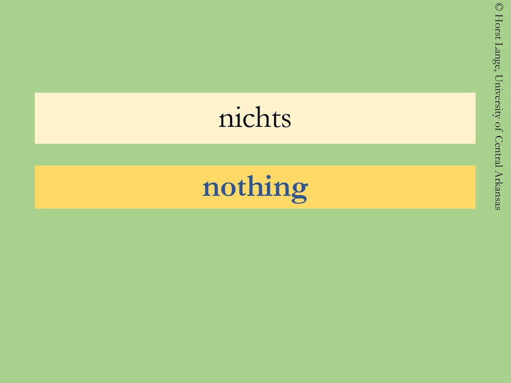 nichts nothing
