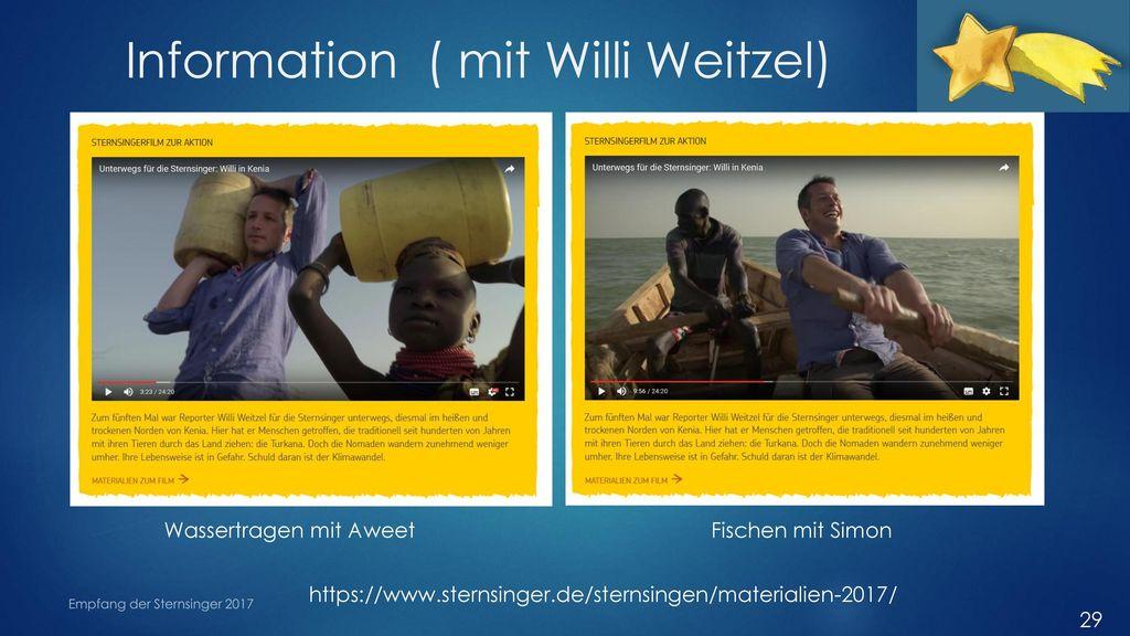 Information ( mit Willi Weitzel)