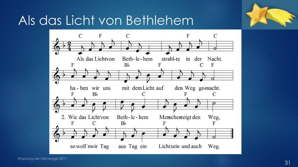 Als das Licht von Bethlehem