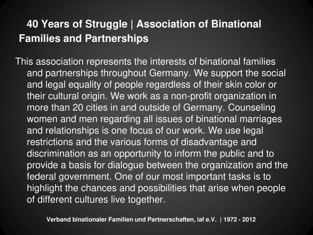 40 Years of Struggle | Association of Binational Families and Partnerships