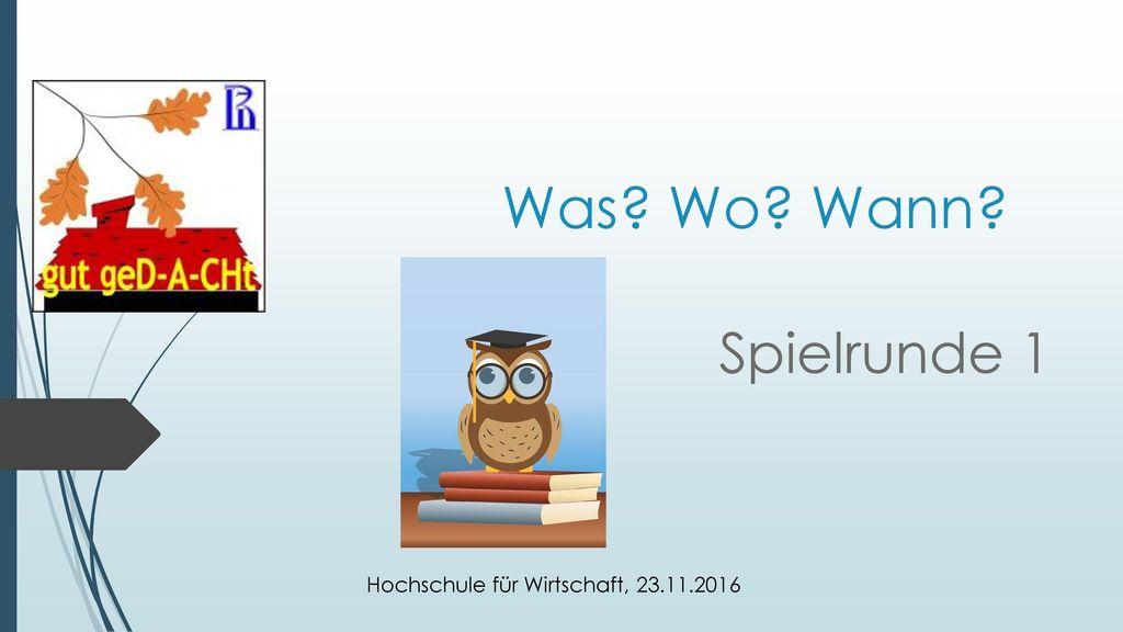 Hochschule für Wirtschaft, 23.11.2016