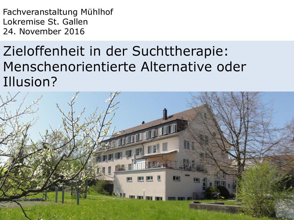 Fachveranstaltung Mühlhof Lokremise St. Gallen 24. November 2016