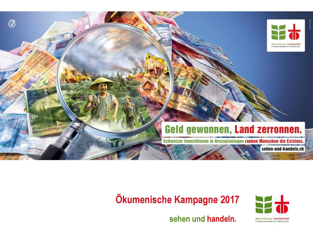 Ökumenische Kampagne 2017 sehen und handeln.