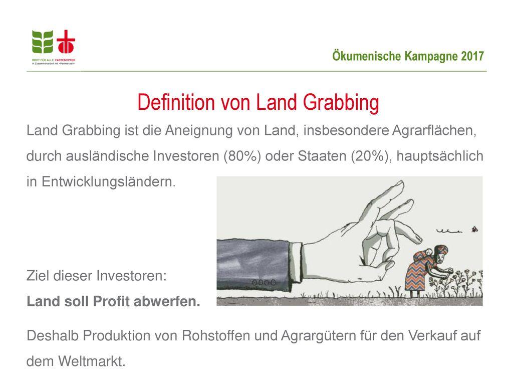 Definition von Land Grabbing