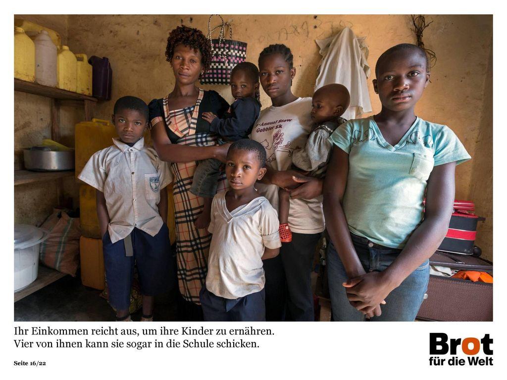 Ihr Einkommen reicht aus, um ihre Kinder zu ernähren