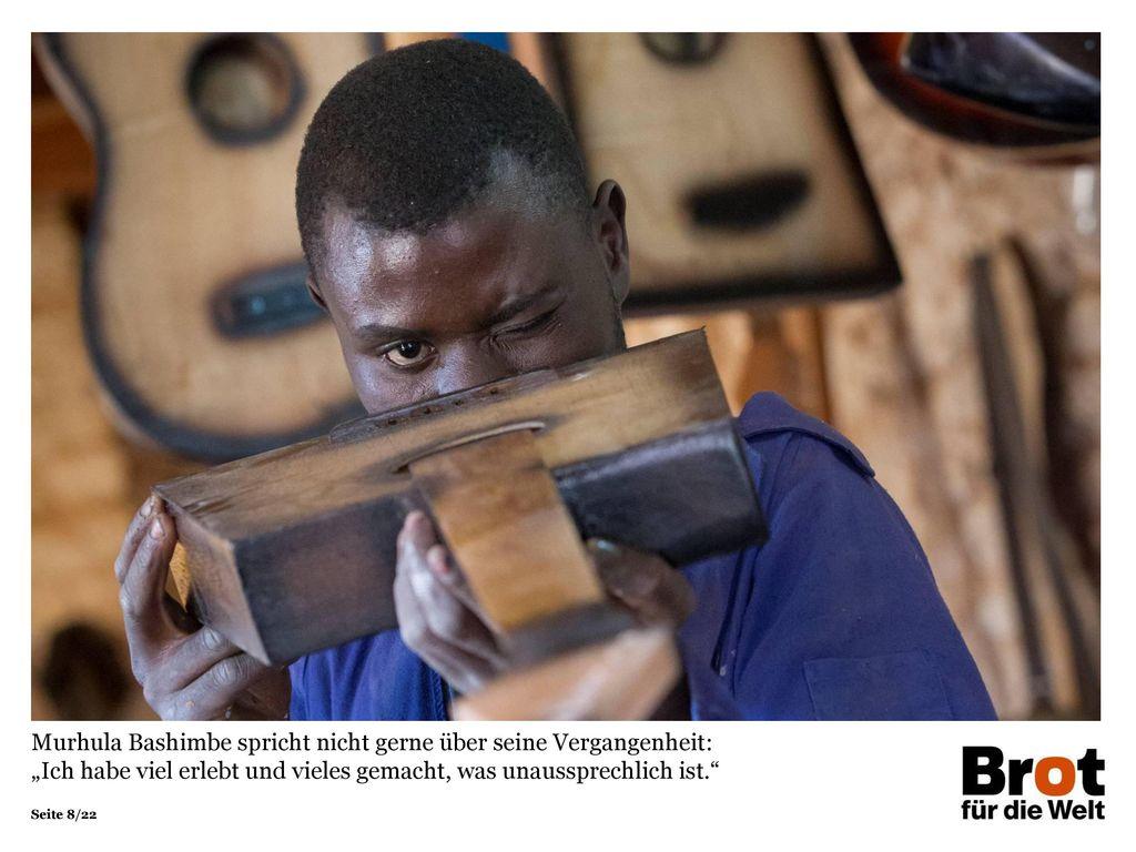 """Murhula Bashimbe spricht nicht gerne über seine Vergangenheit: """"Ich habe viel erlebt und vieles gemacht, was unaussprechlich ist."""