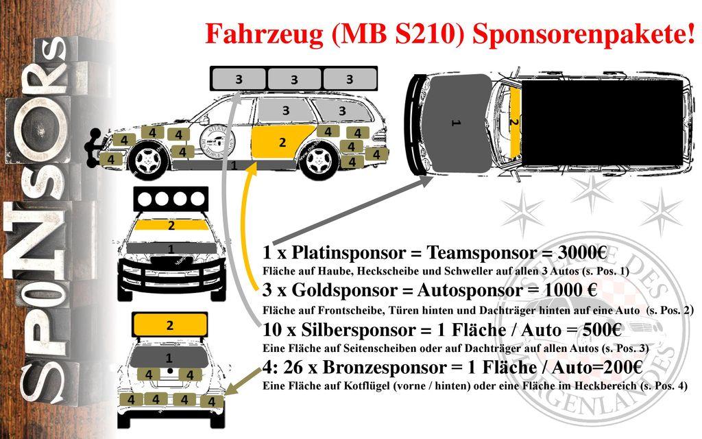 Fahrzeug (MB S210) Sponsorenpakete!