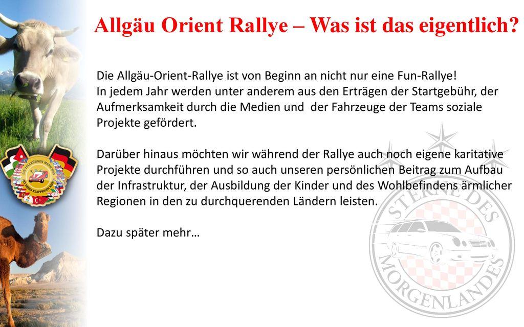 Allgäu Orient Rallye – Was ist das eigentlich