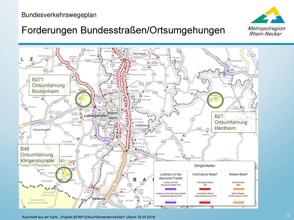 Bundesverkehrswegeplan Bereich Straße