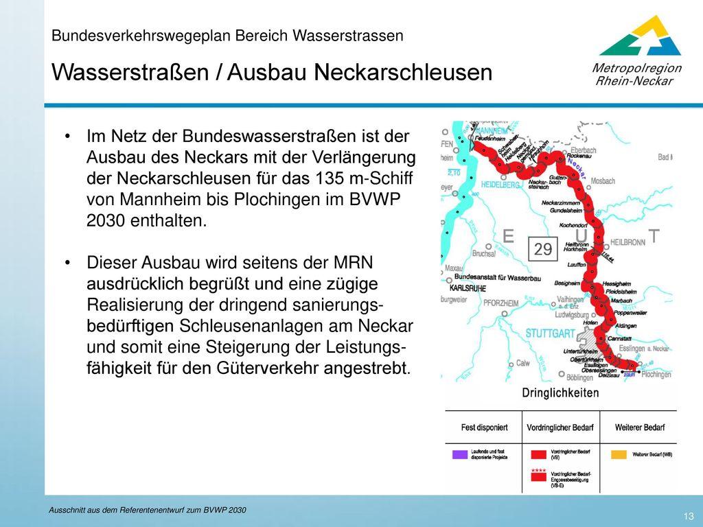 Bundesverkehrswegeplan Bereich Wasserstrassen