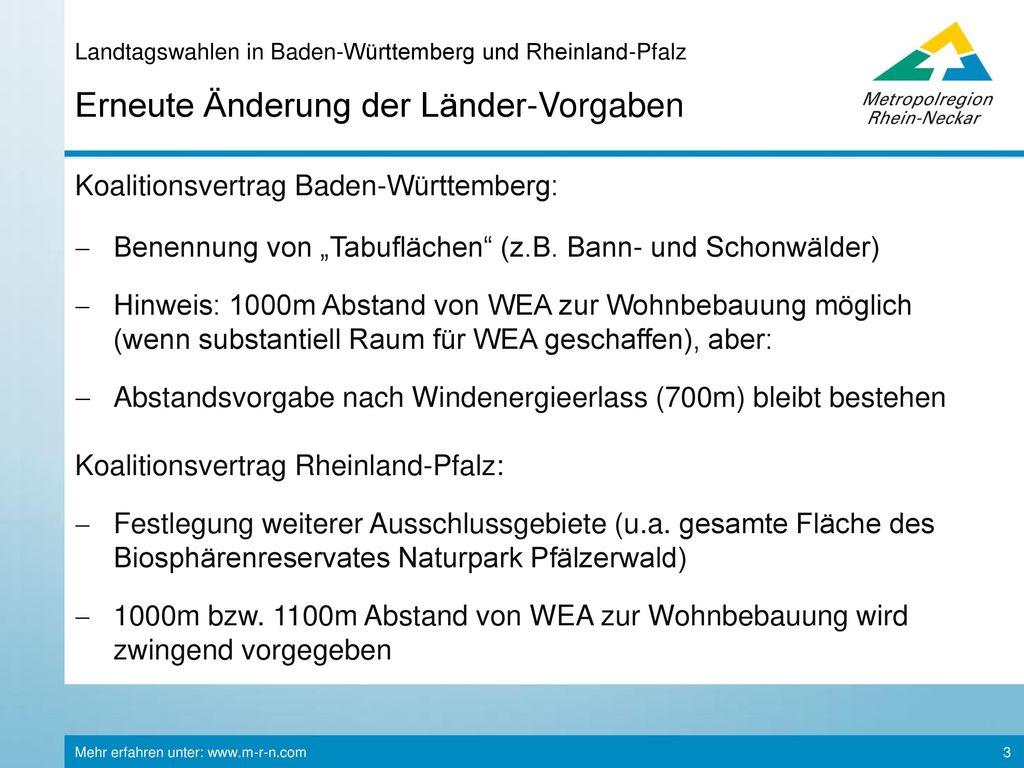 Landtagswahlen in Baden-Württemberg und Rheinland-Pfalz