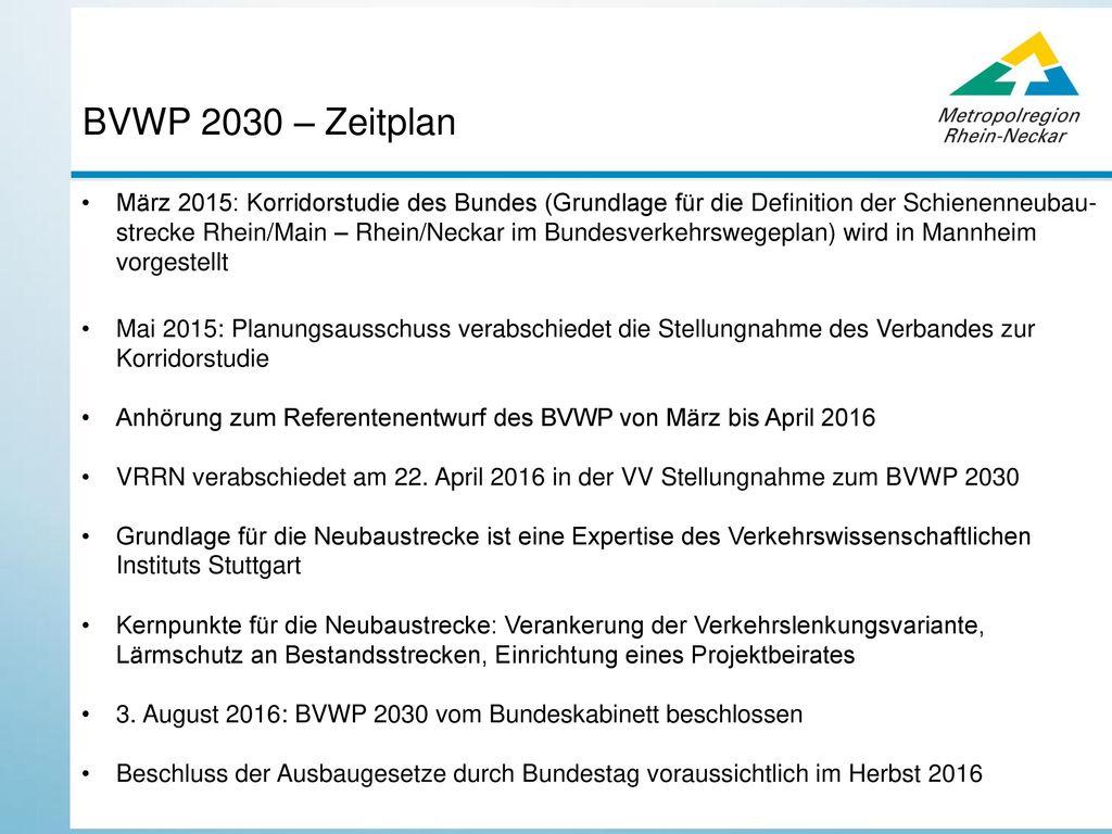 BVWP 2030 – Zeitplan