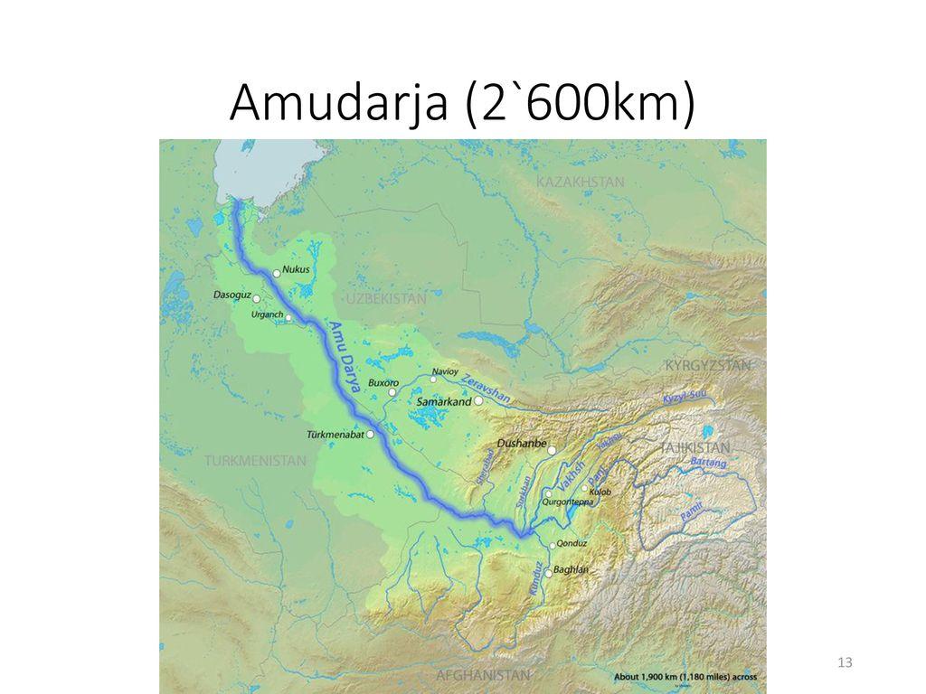 Amudarja (2`600km)