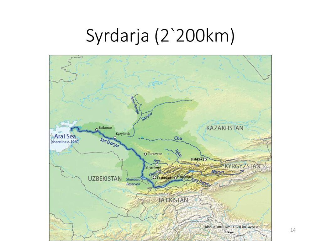 Syrdarja (2`200km)