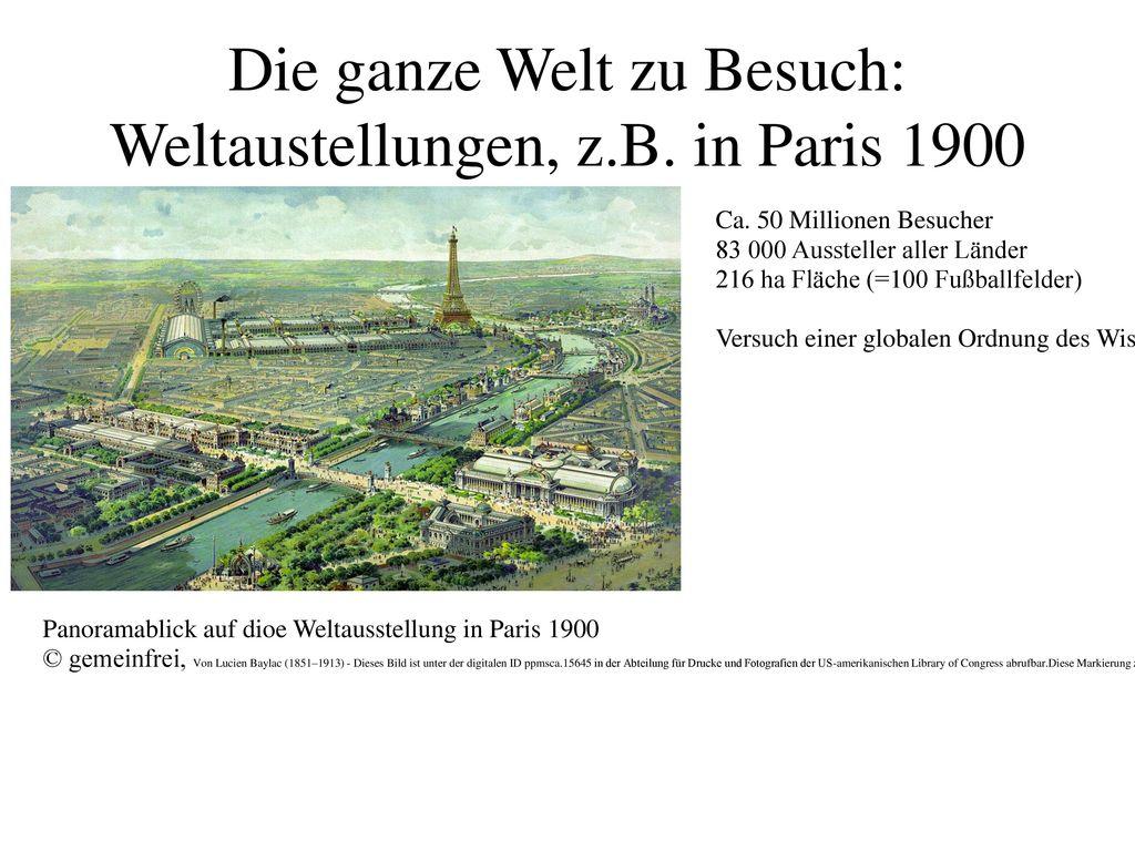 Die ganze Welt zu Besuch: Weltaustellungen, z.B. in Paris 1900
