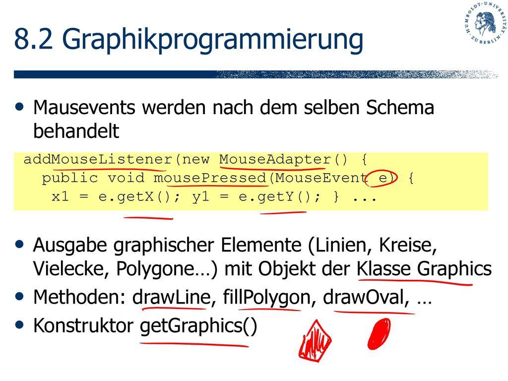 8.2 Graphikprogrammierung