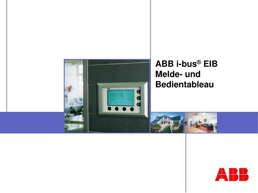 ABB i-bus® EIB Melde- und Bedientableau