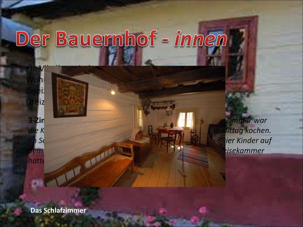 Der Bauernhof - innen In Vlkolínec sind mehrere Typen von Wohnhäusern erhalten geblieben: ein Zweizimmerhaus oder ein Dreizimmerhaus.