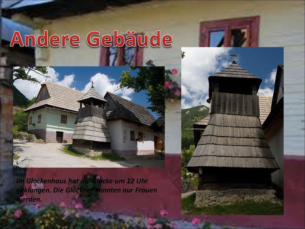 Andere Gebäude Im Glockenhaus hat die Glocke um 12 Uhr geklungen.