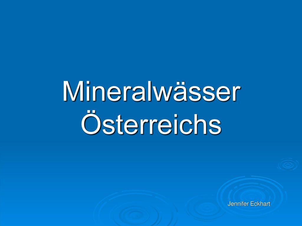 Mineralwässer Österreichs