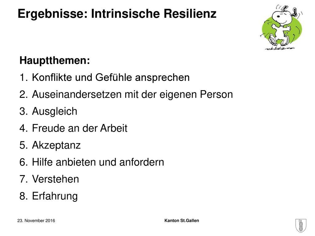 Ergebnisse: Intrinsische Resilienz
