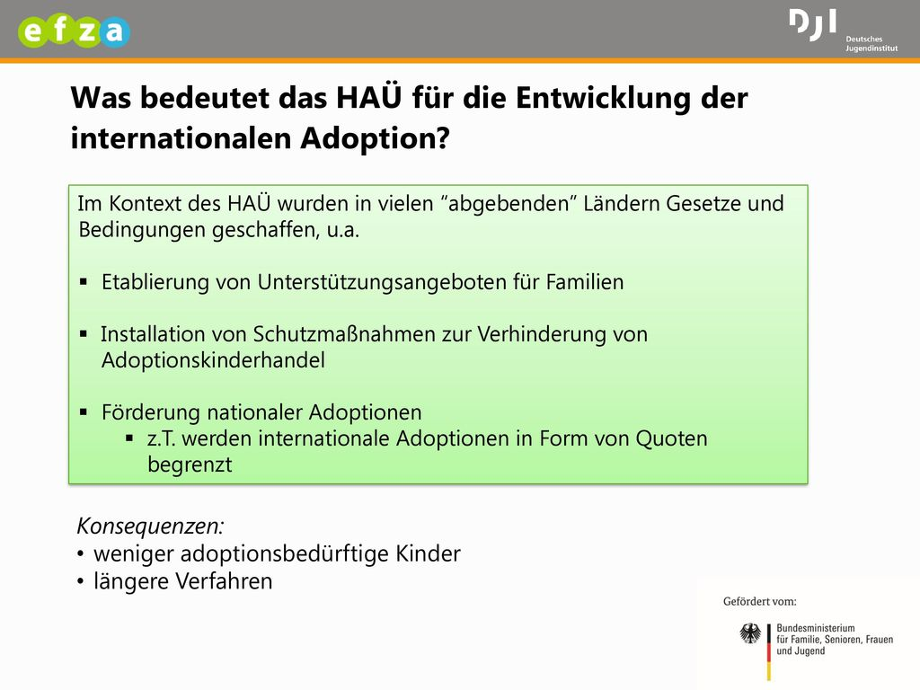 Was bedeutet das HAÜ für die Entwicklung der internationalen Adoption