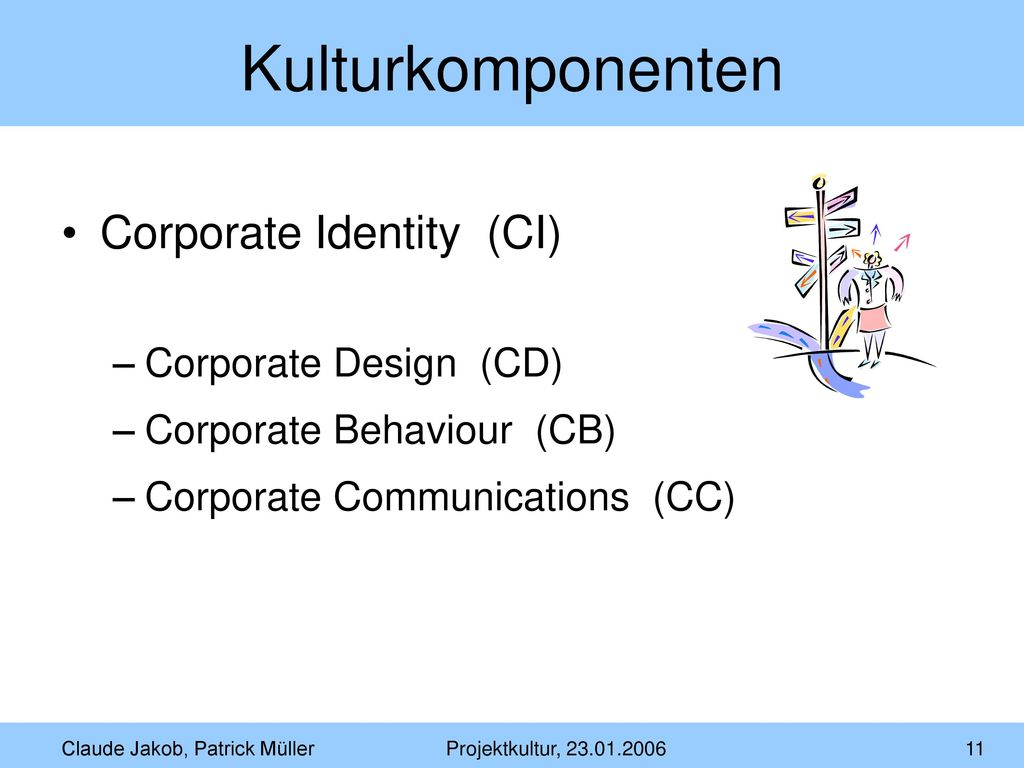 Kulturkomponenten Corporate Identity (CI) Corporate Design (CD)