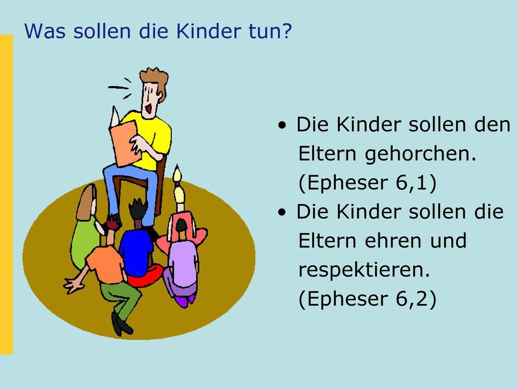 Was sollen die Kinder tun