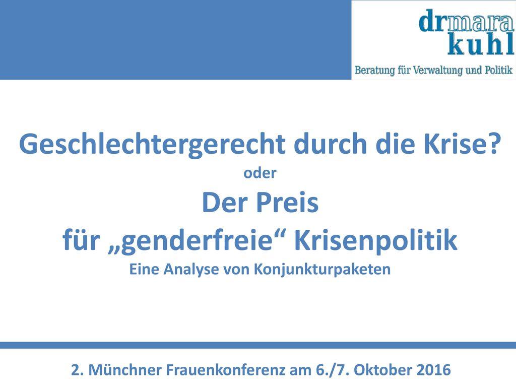 2. Münchner Frauenkonferenz am 6./7. Oktober 2016