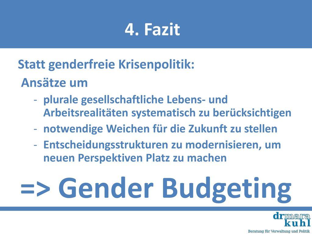 => Gender Budgeting