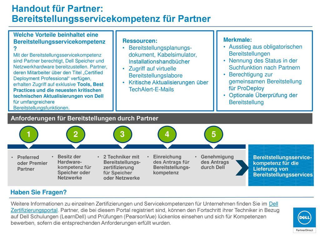 Bereitstellungsservicekompetenz für Partner