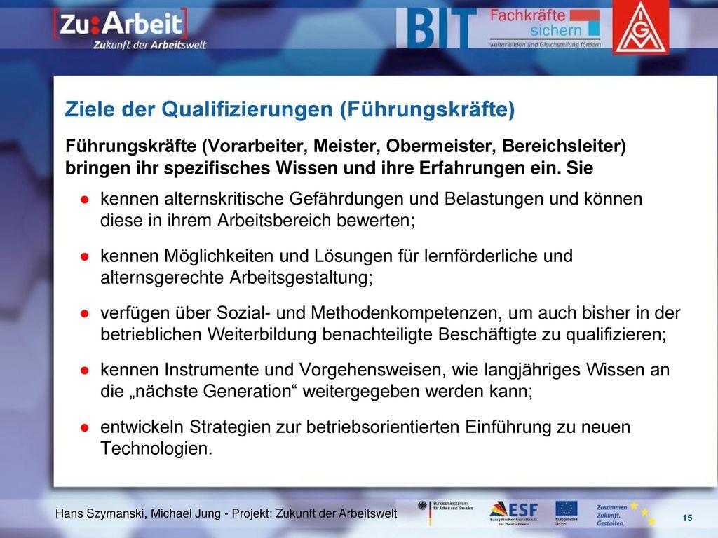 Ziele der Qualifizierungen (Führungskräfte)