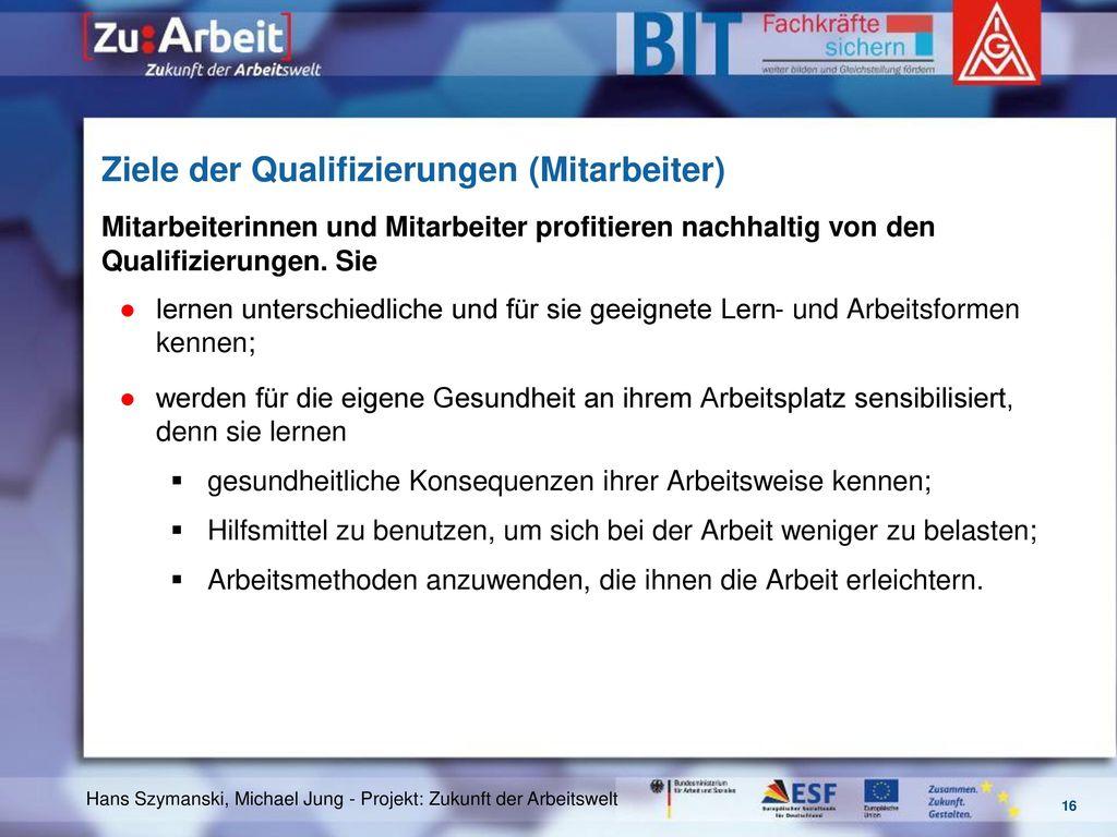 Ziele der Qualifizierungen (Mitarbeiter)
