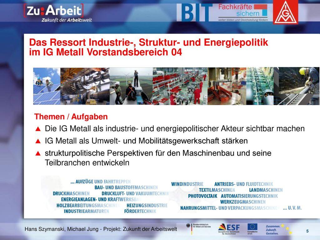 Das Ressort Industrie-, Struktur- und Energiepolitik