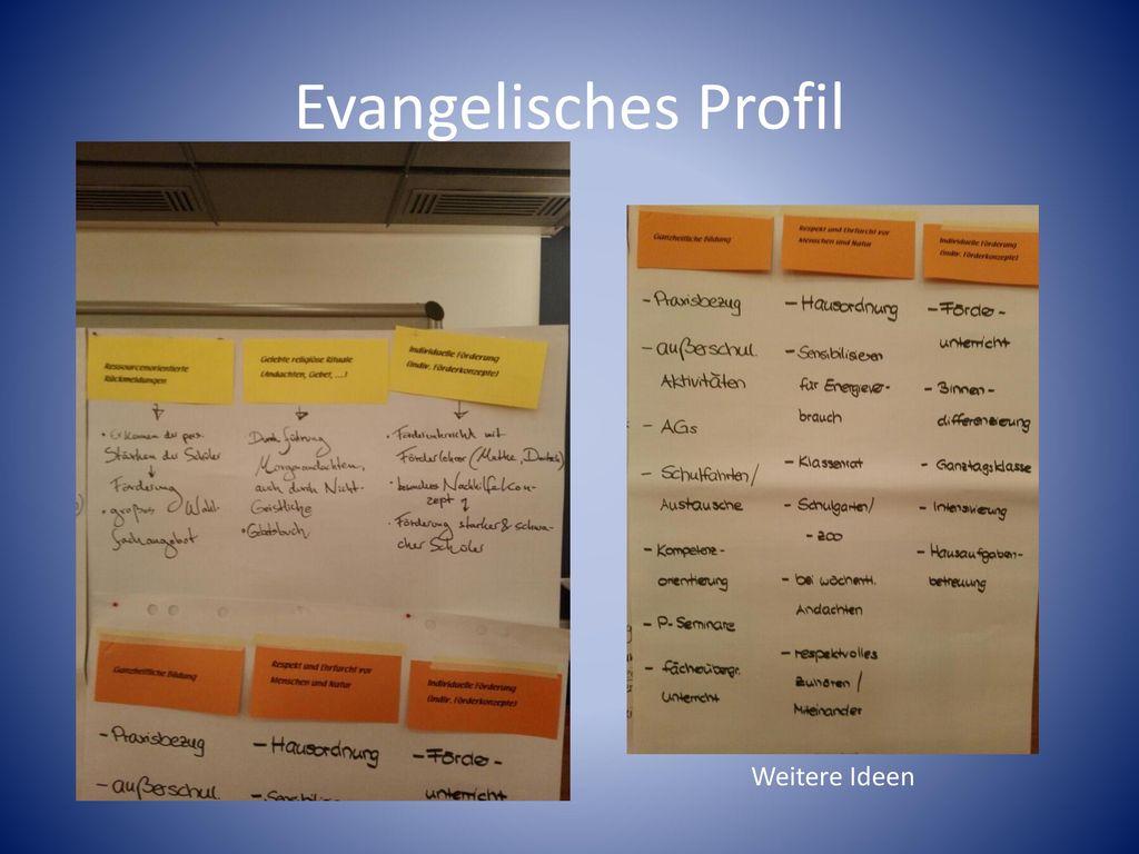 Evangelisches Profil Weitere Ideen