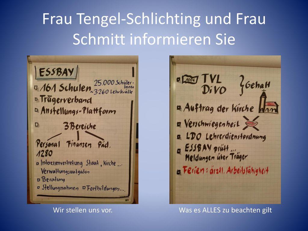 Frau Tengel-Schlichting und Frau Schmitt informieren Sie