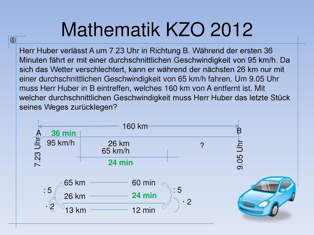Mathematik KZO 2012 