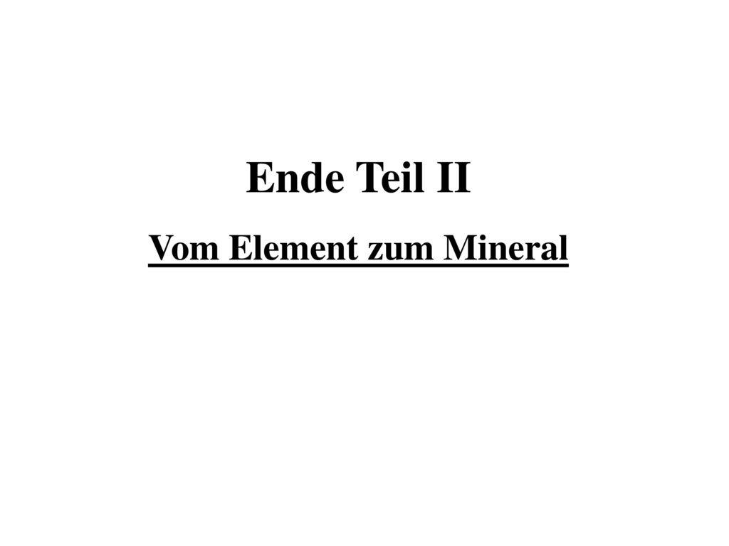 Vom Element zum Mineral