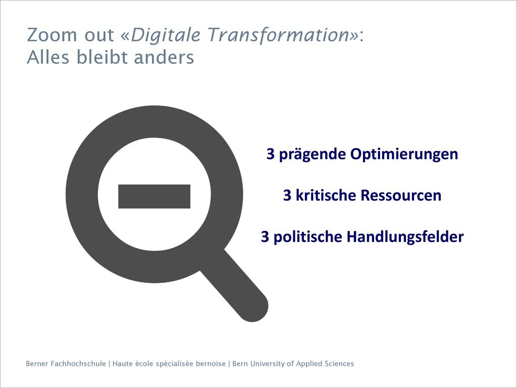 Zoom out «Digitale Transformation»: Alles bleibt anders