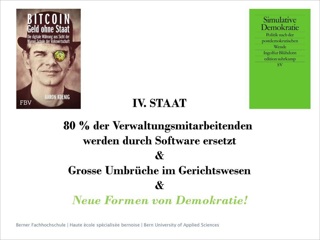 80 % der Verwaltungsmitarbeitenden werden durch Software ersetzt &