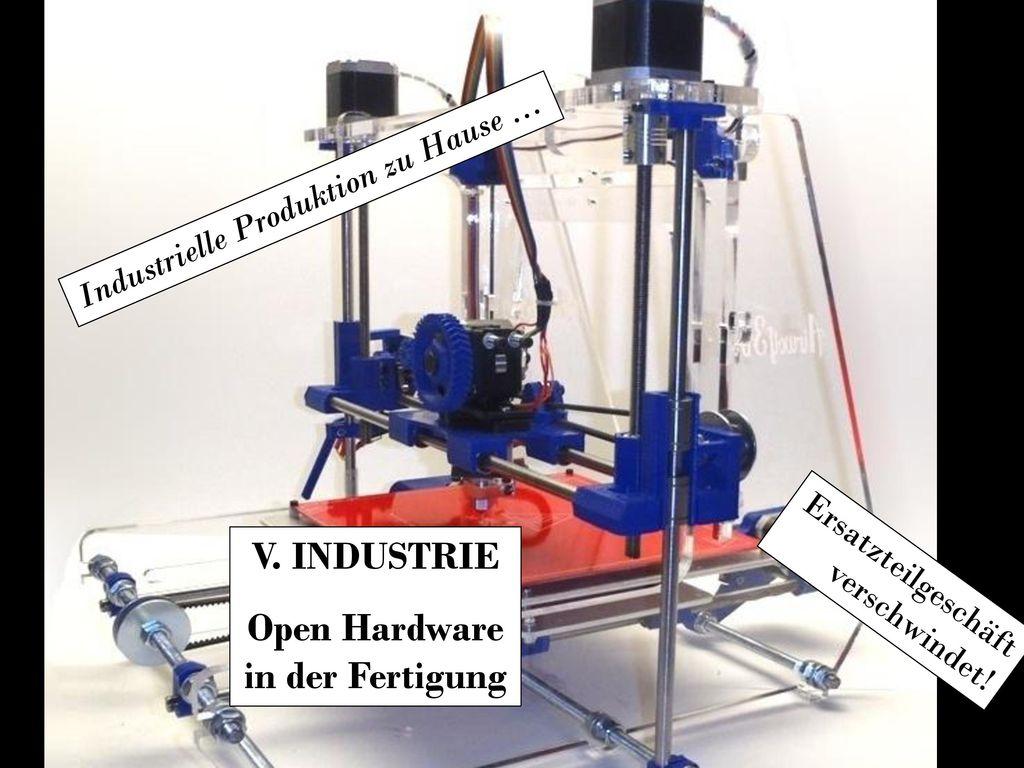 V. INDUSTRIE Open Hardware in der Fertigung