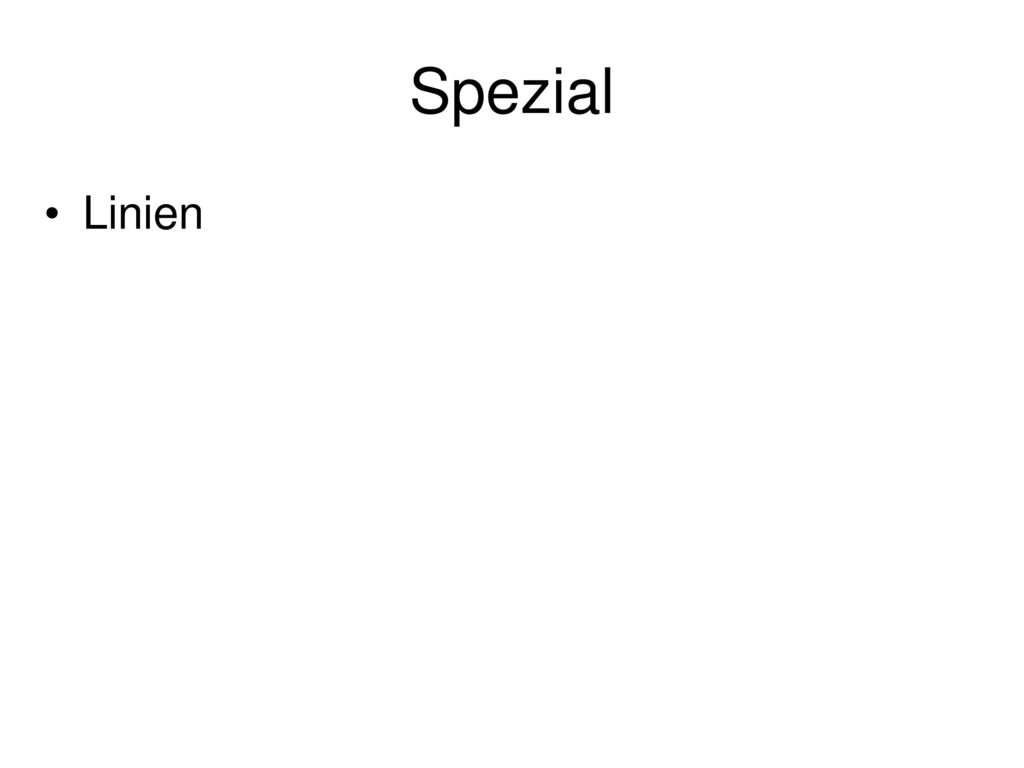 Spezial Linien