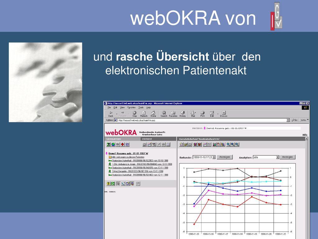 webOKRA von und rasche Übersicht über den elektronischen Patientenakt