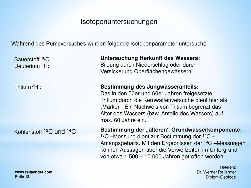 Isotopenuntersuchungen