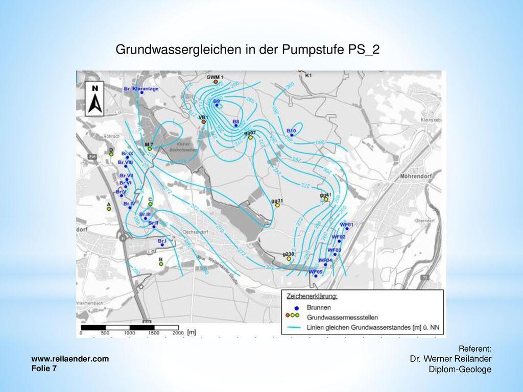 Grundwassergleichen in der Pumpstufe PS_2