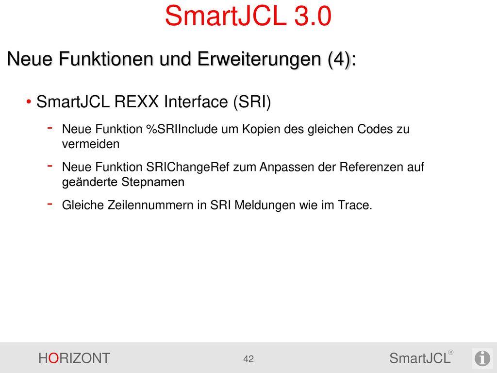 SmartJCL 3.0 Neue Funktionen und Erweiterungen (4):