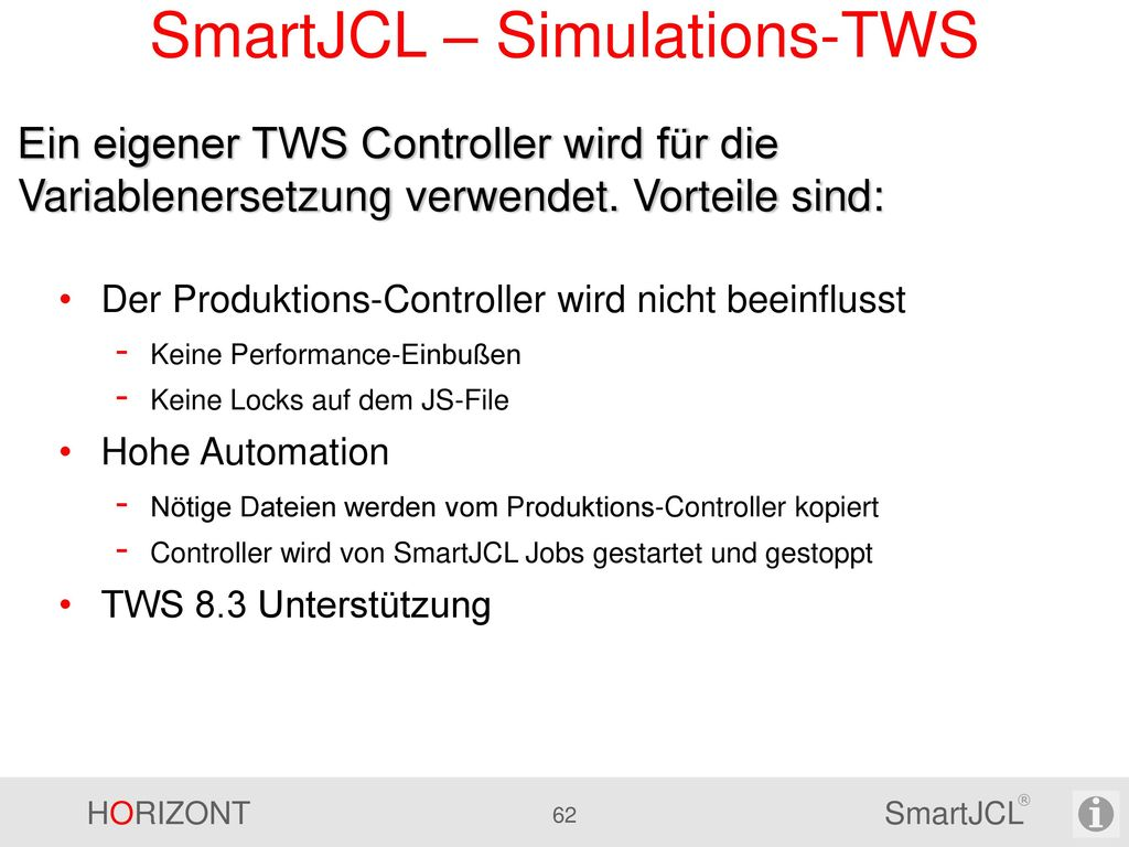 SmartJCL – Simulations-TWS