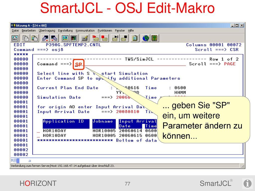 SmartJCL - Erweiterte TWS Simulation