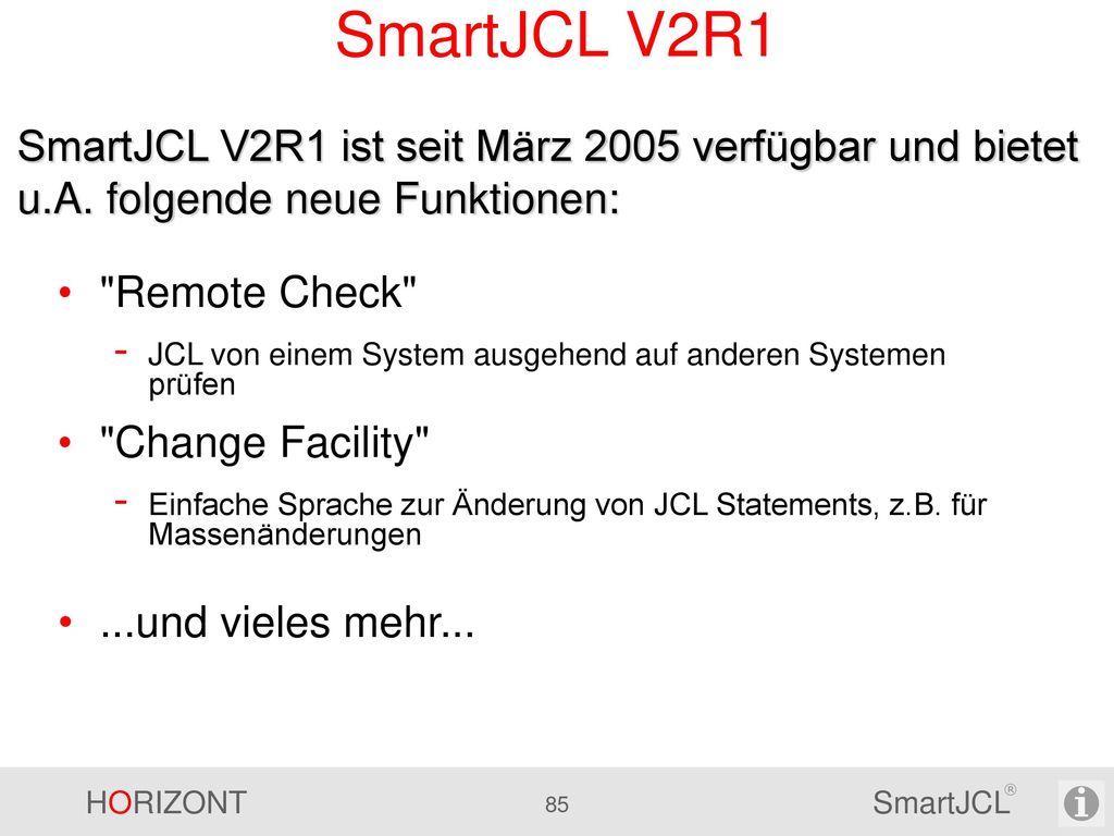 SmartJCL - Parameter Automatische Umstellung während der Installation